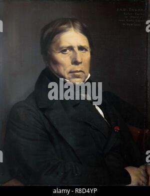 Autoritratto, 1858. Presenti nella collezione della Galleria degli Uffizi di Firenze. Immagini Stock