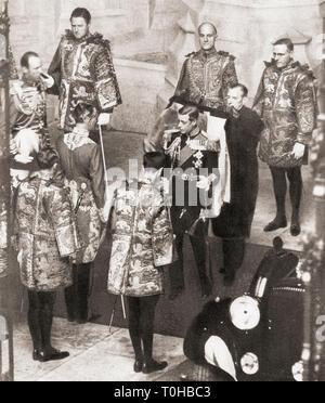 Vecchia foto vintage di Edward VIII Immagini Stock