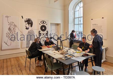 Installazione da parte del Museo di Israele (vari designer) per Israele. London Design Biennale 2018, Londra, Regno Unito. Architetto: Vari , 2019. Immagini Stock