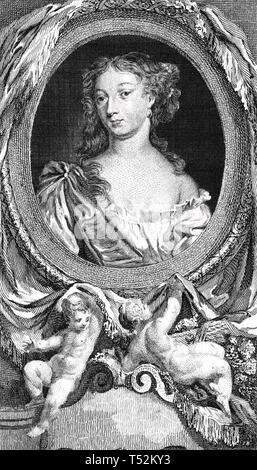 GABRIELLE d'Estrées (1573-1599) padrona di Enrico IV di Francia Immagini Stock