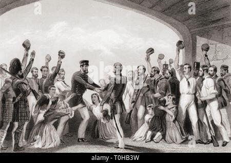 Il sollievo di Lucknow dal generale Havelock, India, Asia, 1857 Immagini Stock