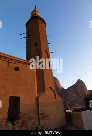 Khatmiyah minareto della moschea, Stato di Kassala, Kassala, Sudan Immagini Stock