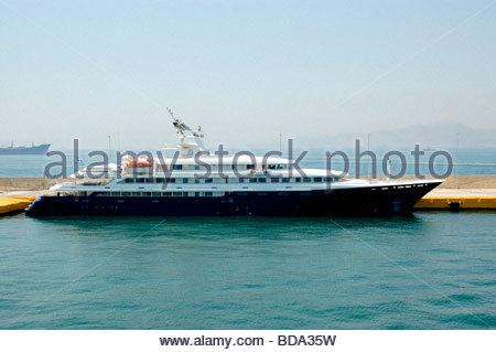 Un traghetto a Rodi Grecia Immagini Stock
