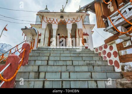 Gangotri Devi tempio, Mukhba village, Harsil, Uttarakhand, India, Asia Immagini Stock