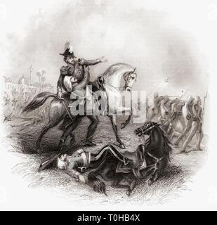 La morte di Sir Henry Montgomery Lawrence, India, Asia Immagini Stock
