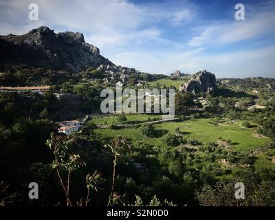 Montagne di Grazalema, Cadice, Andalusia, Spagna Immagini Stock