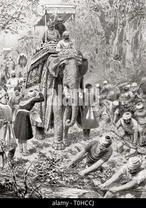 Ispezione di Sher Shah Suris Great North Road, 1542 Immagini Stock