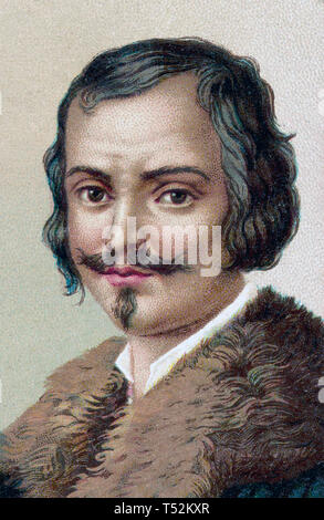 EVANGELISTA TORRICELLI (1608-1647) fisico italiano che ha inventato il barometro Immagini Stock