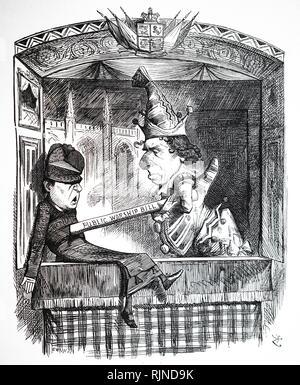 Un cartoon commentando il culto pubblico Regolamento atto. Illustrato da John Tenniel. Datata del XIX secolo Immagini Stock