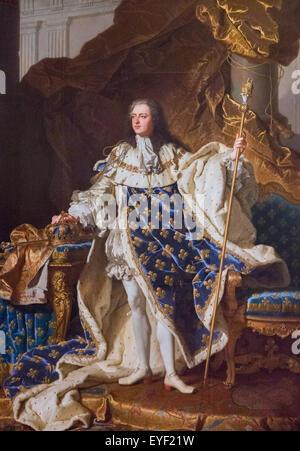 Louis XV (1710-1774), Re francese 10/12/2013 - XVIII secolo collezione Immagini Stock