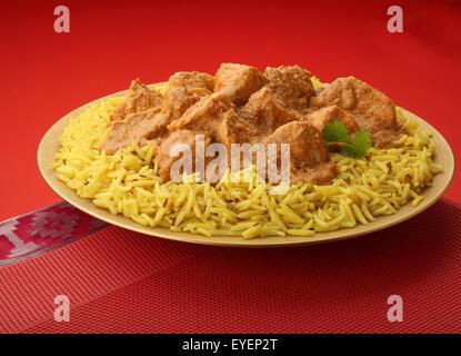 INDIAN Chicken Korma curry di carne pasto Immagini Stock