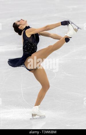 Kaetlyn Osmond (CAN) competere nel pattinaggio di figura - Ladies' breve presso i Giochi Olimpici Invernali PyeongChang 2018 Immagini Stock