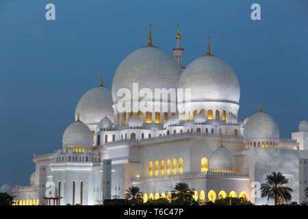 Emirati Arabi, Abu Dhabi Sheikh Zayed Grande moschea Immagini Stock