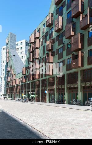 Architettura moderna, Westerdok, Amsterdam, Paesi Bassi Immagini Stock