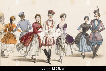 La Mazurka, 1840s. Collezione privata. Immagini Stock