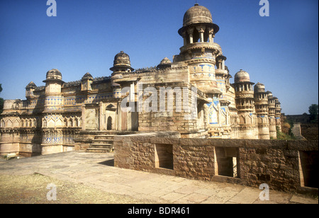 Storico, uomo SINGH,FORT E Palace è un popolare e famosa,molto visitato sito turistico IN GWALIOR,MADHYA PRADESH, Immagini Stock