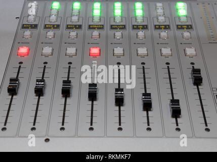 Controllo remoto della console per vision mixer il processore video Immagini Stock