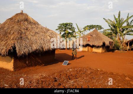 Villaggio ugandese girl, Bweyale, Uganda, Africa Immagini Stock