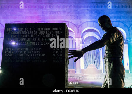 Stati Uniti d'America,New Jersey, Atlantic City, Atlantic City Monumento dei lavoratori Immagini Stock