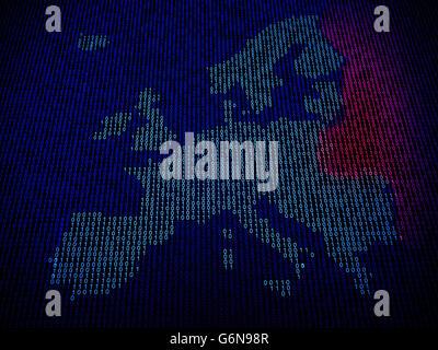 Unione Europea in pericolo di attacchi da parte di pirati informatici Immagini Stock