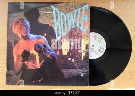 David Bowie Lascia la danza album su dischi in vinile. Immagini Stock
