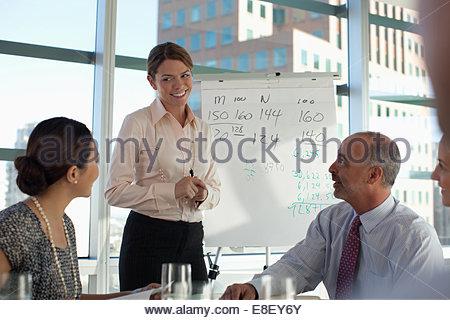 La gente di affari seduti in riunione Immagini Stock