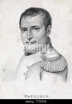 Napoleone Bonaparte (1769-1821) francese leader militare e di più circa 1812 Immagini Stock