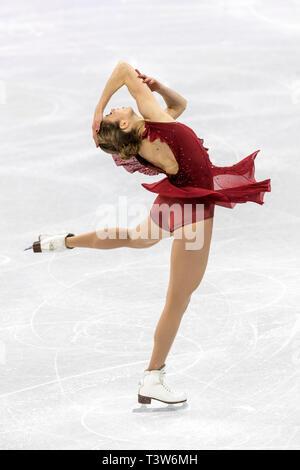 Carolina Kostner (ITA) competere nel pattinaggio di figura - Ladies' breve presso i Giochi Olimpici Invernali PyeongChang 2018 Immagini Stock