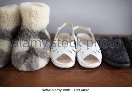 Close-up di pantofole Immagini Stock