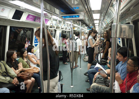 MRT (metropolitana) Singapore Immagini Stock