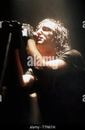 NINE INCH NAILS rock americano gruppo nel 1995 con Trent Reznor Immagini Stock