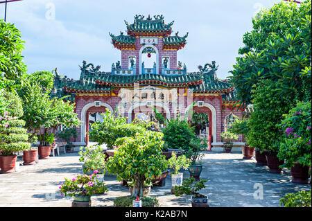 Fukien Congregazione cinese Assembly Hall, Phuoc Kien Hoi Quan, antica città di Hoi An, Vietnam Immagini Stock