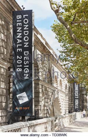 Cartello stradale. London Design Biennale 2018, Londra, Regno Unito. Architetto: Vari , 2019. Immagini Stock