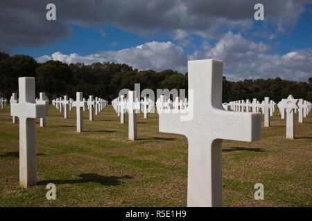 La Tunisia, Tunisi, Cartagine, noi la Seconda Guerra Mondiale era il Cimitero di Guerra Immagini Stock