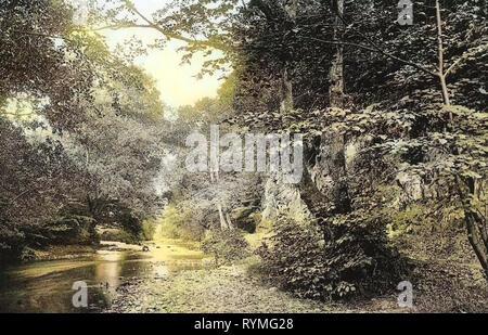Fiumi della Bassa Sassonia, Bad Lauterberg im Harz, 1907, Bassa Sassonia, Bad Lauterberg, Philosophenweg, Germania Immagini Stock