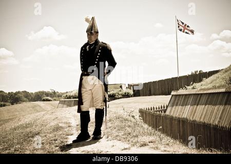 Canada,Ontario,Niagara-su-il-Lago,Fort George National Historic Park, rievocazione della guerra di 1812 Immagini Stock