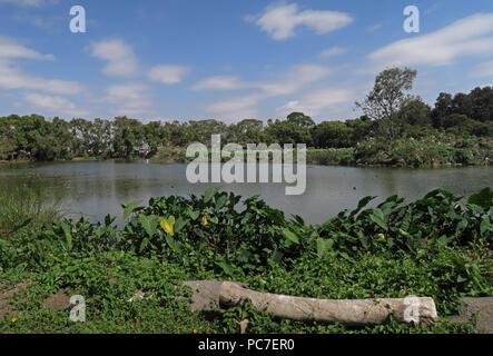 Vista sulla città lago Lago Alarobia, Antananarivo, Madagascar Novmber Immagini Stock