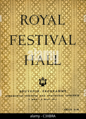 Il Festival di Gran Bretagna programma souvenir coperchio per il cerimoniale di apertura e cerimonia inaugurale Immagini Stock