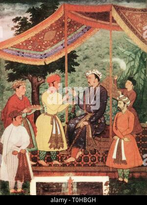 Vecchia foto d'epoca del nur ud din Mohammad Salim Jahangir Immagini Stock