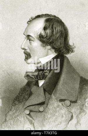 Eliseo KANE (1820-1857) American explorer e medico Immagini Stock