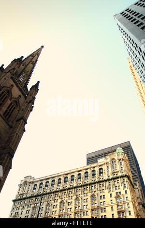 New York, Downtown, il quartiere finanziario Immagini Stock