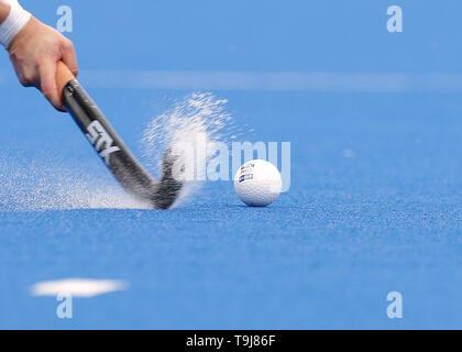 Londra, Regno Unito. Il 19 maggio 2019. FIH Mens internazionale Pro Campo di hockey, Inghilterra contro il Belgio; FIH ufficiale internazionale di credito a sfera: Azione Plus immagini di sport/Alamy Live News Immagini Stock
