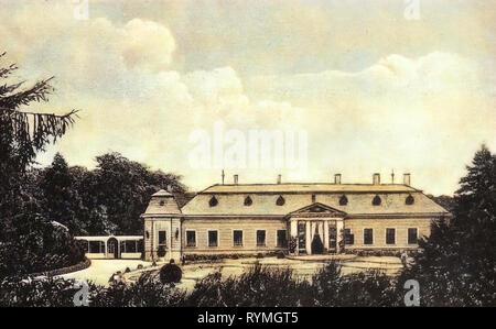 Edifici nella contea di Tolna, 1908 cartoline, Tengelicz, 1908 Immagini Stock