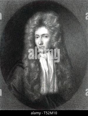 ROBERT Boyle (1627-1691) farmacia anglo-irlandese,inventore e fisico Immagini Stock
