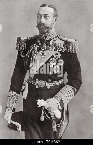 Re del Regno Unito, Domini britannici, imperatore dell'India, George V, India, Asia Immagini Stock