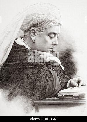 La regina Victoria, India, Asia Immagini Stock