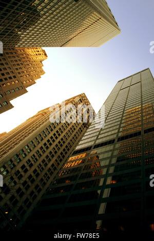 New York grattacieli cercando Immagini Stock