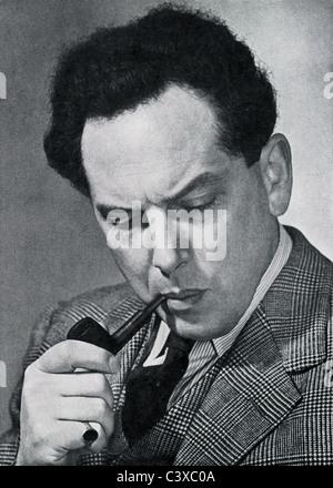 Harry Blech, violinista e direttore, foto Alfred Lammon, dal programma di souvenir del Royal Festival Hall, 1951 Immagini Stock
