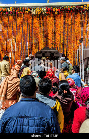 Ganga tempio, Gangotri, Uttarakhand, India, Asia Immagini Stock