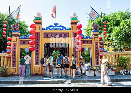 Min Huong Casa Comunale; antica città di Hoi An, Vietnam Immagini Stock